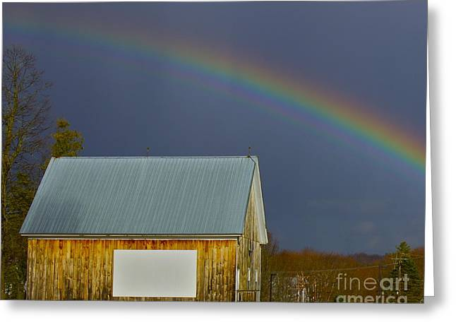 Greeting Card featuring the photograph Under The Rainbow by Alice Mainville