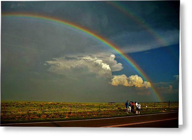 Under The Rainbow Greeting Card by Ed Sweeney