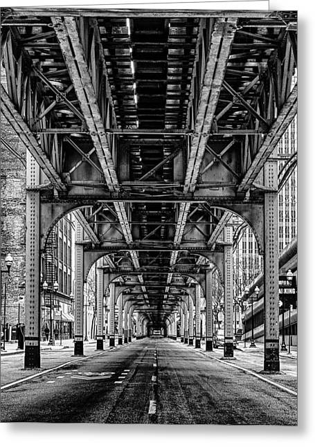 Under The Red Line Greeting Card by Mike Burgquist
