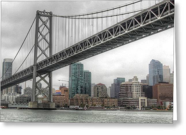 Under The San Francisco Bay Bridge Greeting Card