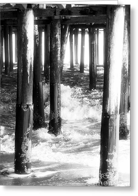 Under The Santa Monica Pier Greeting Card