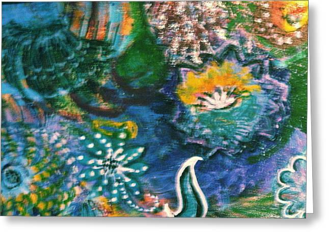 Under The Sea Blue Dreams Greeting Card by Anne-Elizabeth Whiteway