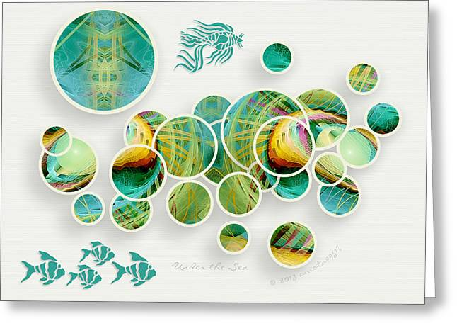 Under The Sea Greeting Card by Gayle Odsather