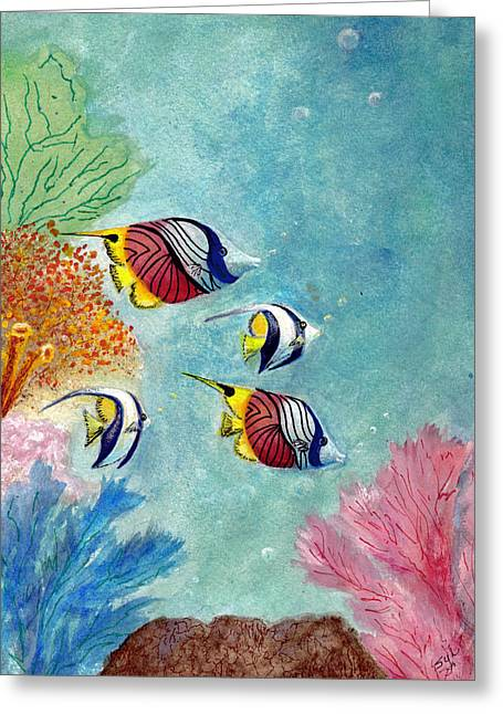 Under The Sea Greeting Card by Syl Lobato