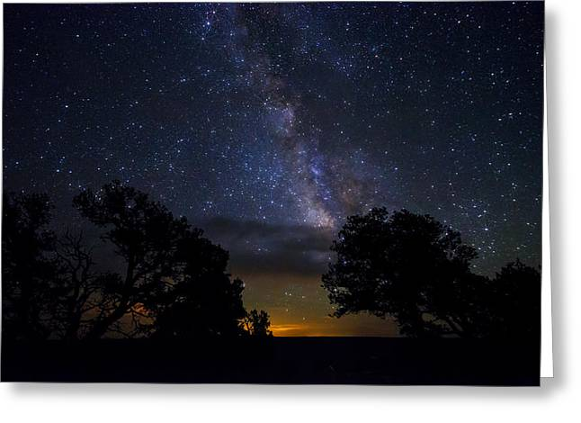 Under The Stars At The Grand Canyon  Greeting Card