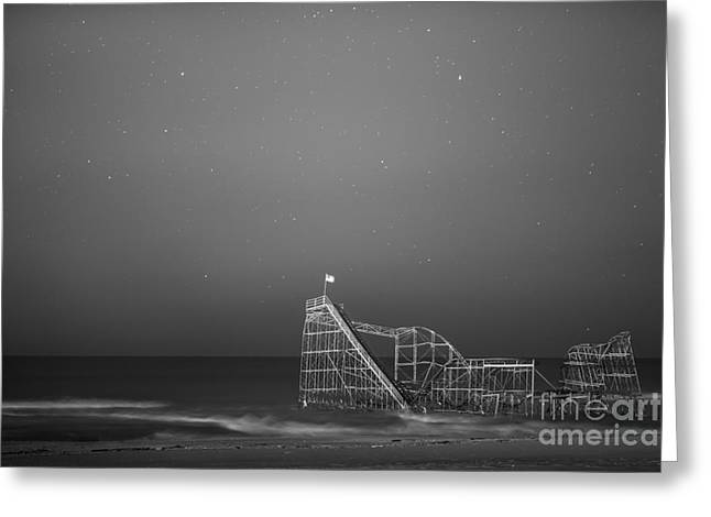Under The Stars Bw Greeting Card by Michael Ver Sprill