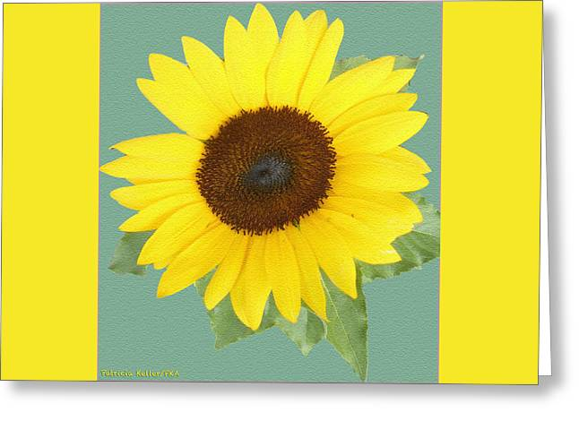 Under The Sunflower's Spell Greeting Card by Patricia Keller