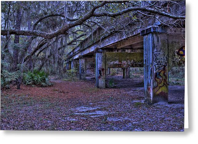 Under The Suwannee River Bridge Greeting Card