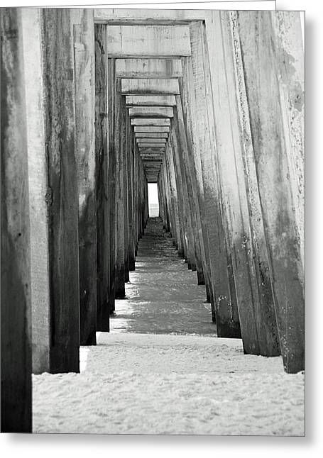 Under The The Pier Greeting Card by Thomas Fouch