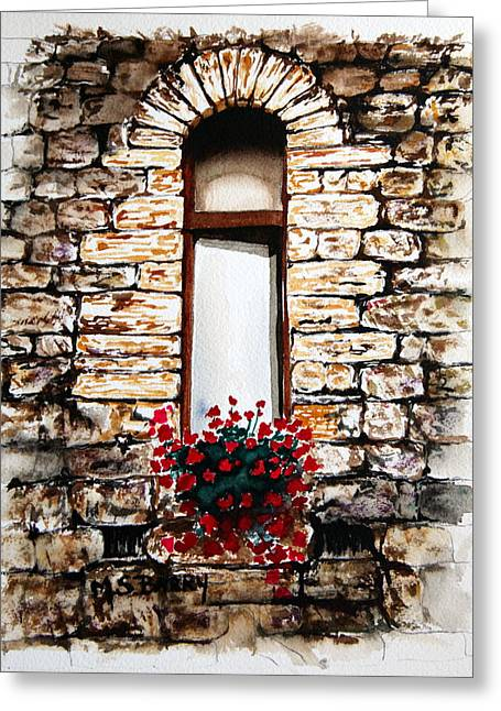 Under The Tuscan Sun Greeting Card by Maria Barry