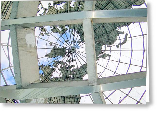Under The Unisphere Greeting Card by Ed Weidman
