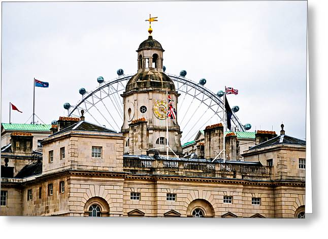 Under The Watchful Eye At Horse Guards Greeting Card