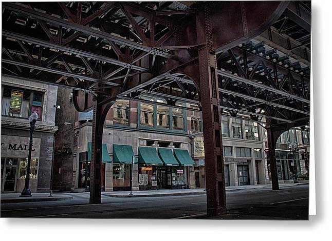 Under Tracks Chicago Greeting Card by Mike Burgquist