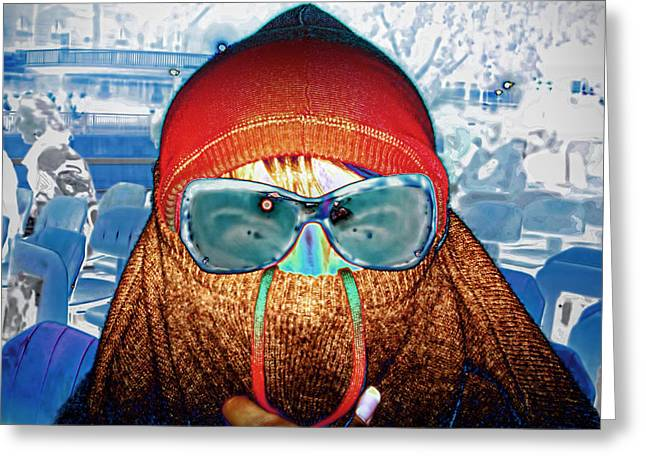 Undercover On Bateaux Mouches Greeting Card by GabeZ Art