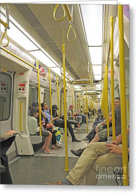 Underground Commute Greeting Card by Ann Horn