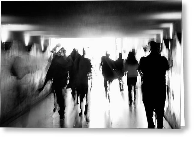 Underground Pathway Greeting Card by Andrea Klein