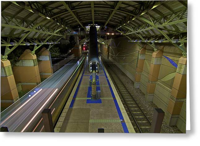 Greeting Card featuring the photograph Underground Transit by John Babis