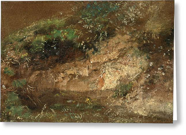 Undergrowth, John Constable, 1776-1837 Greeting Card by Litz Collection