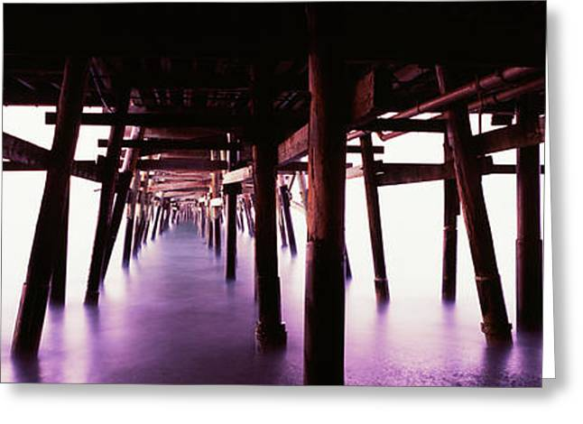Underneath View Of San Clemente Pier Greeting Card