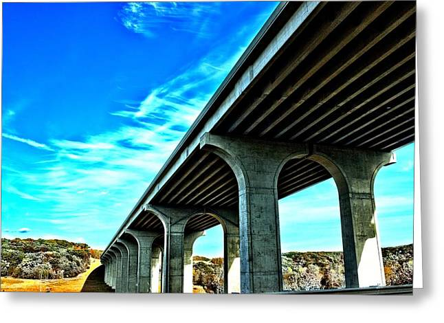 Underpass Greeting Card by Dennis Lundell