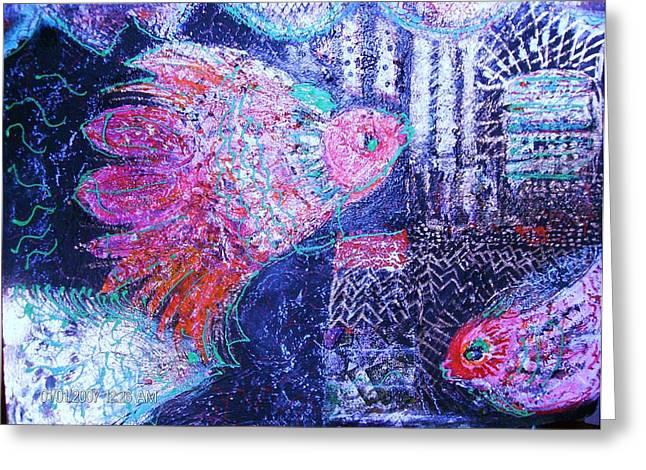 Undersea Fantasy Greeting Card by Anne-Elizabeth Whiteway