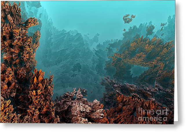 Underwater 6 Greeting Card by Bernard MICHEL