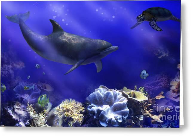 Underwater Encounter Greeting Card