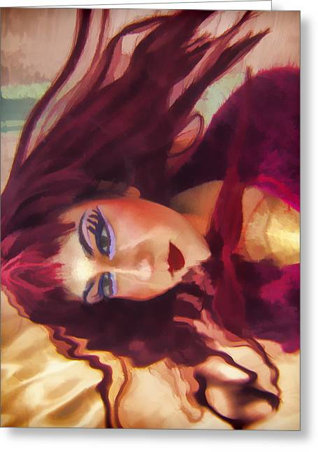 Underwater Geisha Abstract 4 Greeting Card