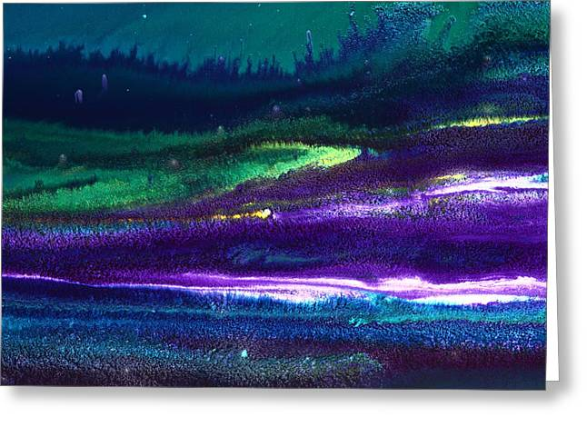 Underwater Landscape Abstract Greeting Card by Serg Wiaderny