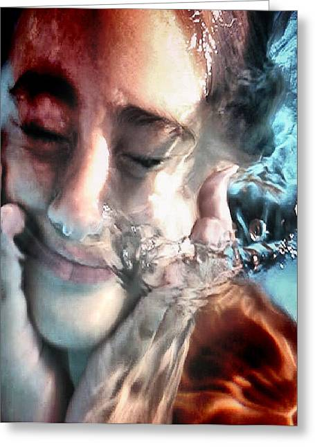 Greeting Card featuring the photograph Underwater Portrait by Beto Machado