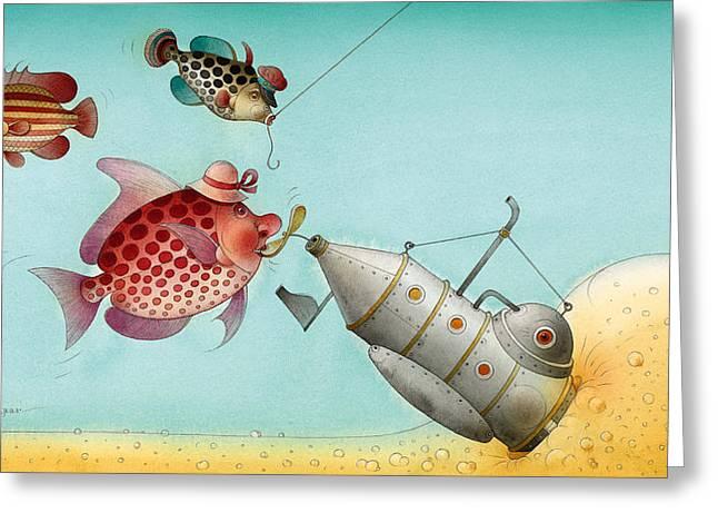 Underwater Story 04 Greeting Card by Kestutis Kasparavicius