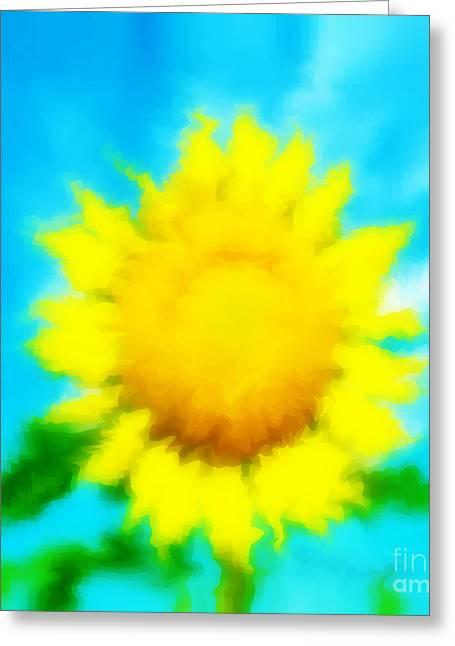Underwater Sunflower Greeting Card by Lorraine Heath
