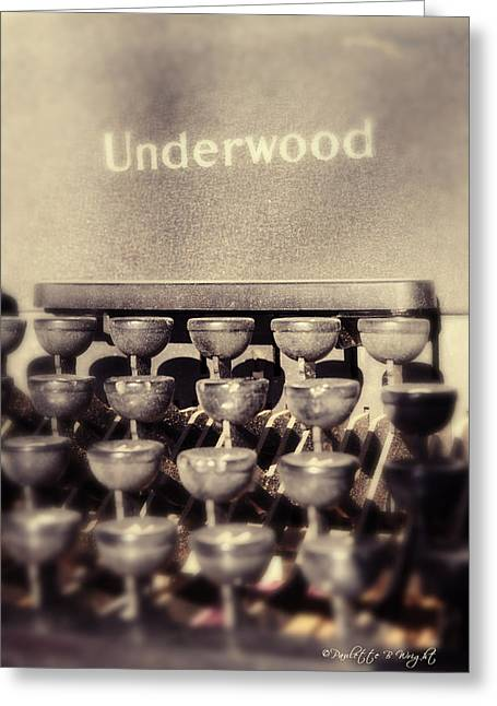Underwood Greeting Card by Paulette B Wright
