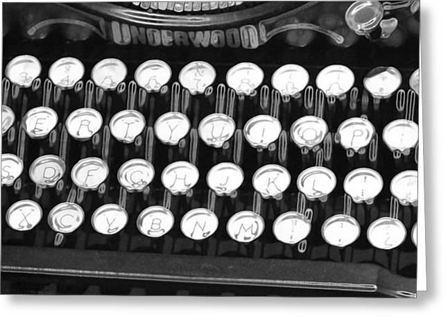 Underwood Typewriter Keys Greeting Card