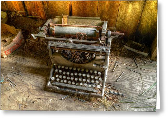 Underwood Typewriter No. 5 Greeting Card