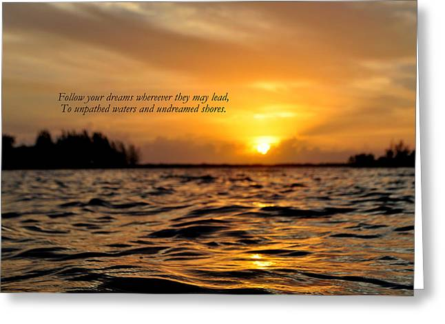 Undreamed Shores Greeting Card by Dennis Stanton