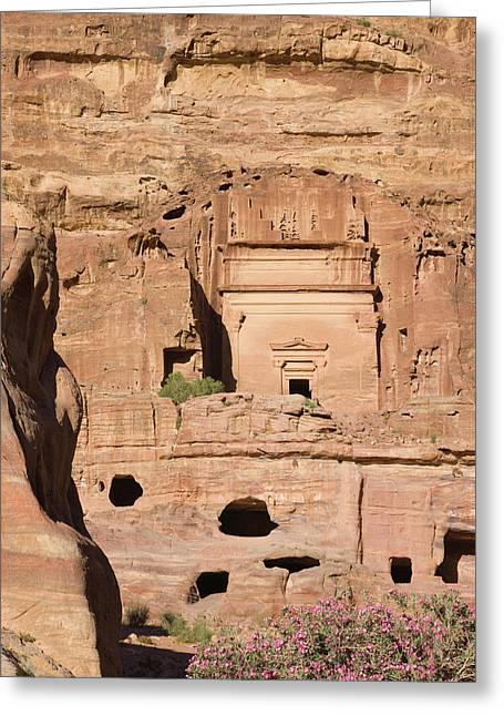 Uneishu Tomb, Petra, Jordan (unesco Greeting Card