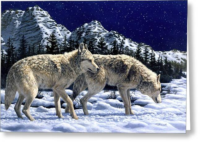 Wolves - Unfamiliar Territory Greeting Card
