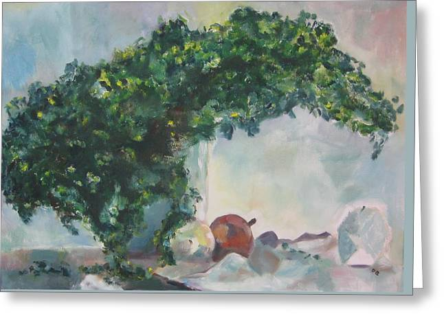 Unfinished Apples Greeting Card by Diane Pape