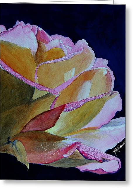 Unfolding Rose Greeting Card by Ruth Bodycott