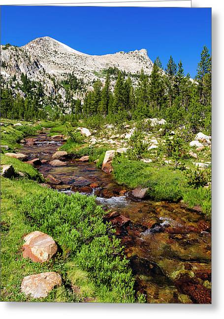 Unicorn Creek Under Unicorn Peak Greeting Card