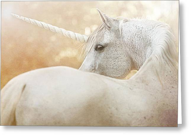 Unicorn Of Narnia Greeting Card by Pamela Hagedoorn
