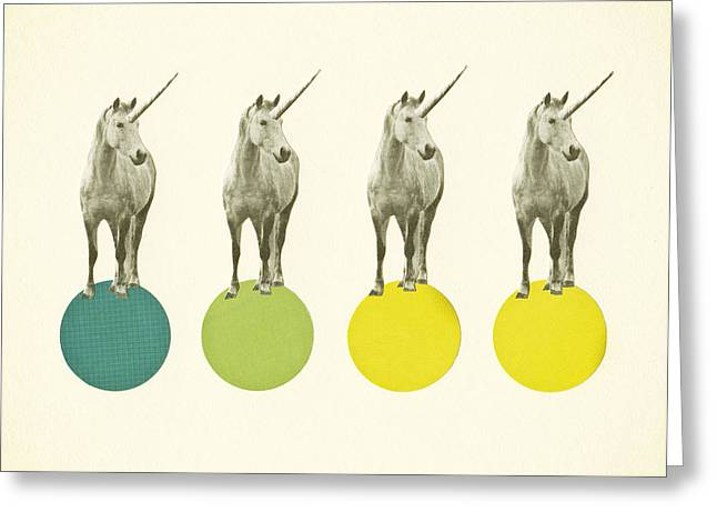 Unicorn Parade Greeting Card by Cassia Beck