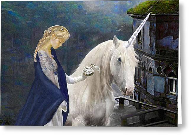 Unicorn Varations Greeting Card by Jane Schnetlage