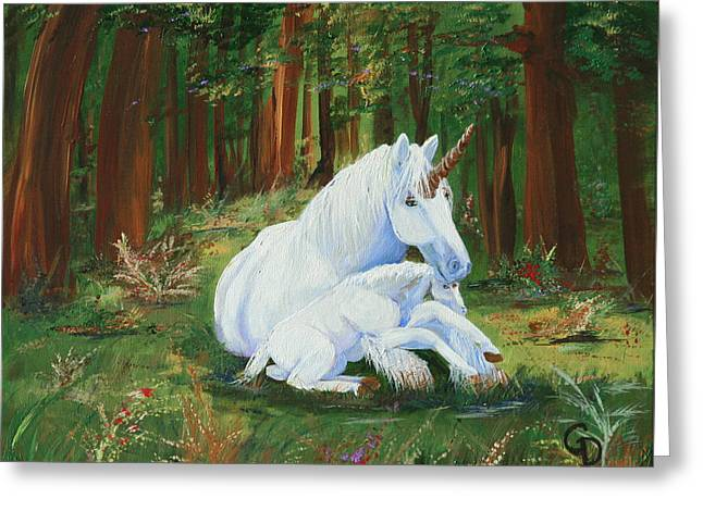 Unicorns Lap Greeting Card