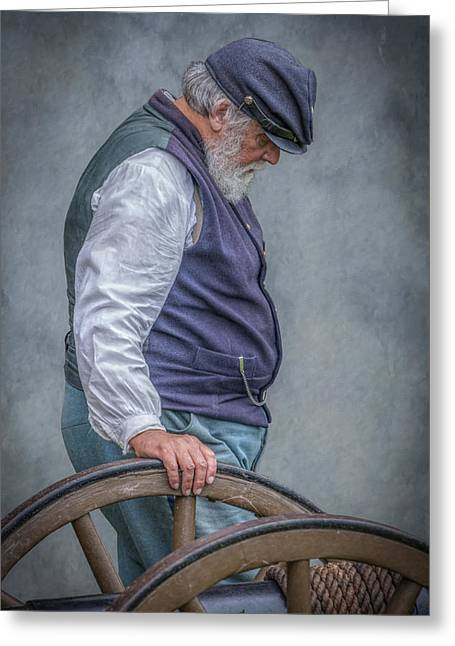 Union Civil War Soldier The Veteran  Greeting Card by Randy Steele