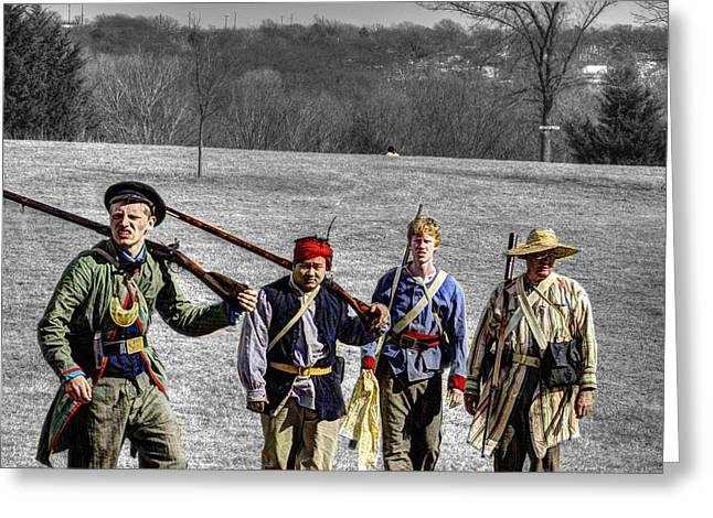 Union Militia  Civil War Greeting Card by John Straton
