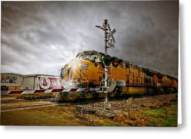 Union Pacific 7064 Greeting Card by Linda Unger