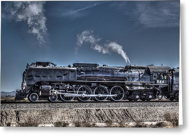 Union Pacific 844 Greeting Card by Photographic Art by Russel Ray Photos