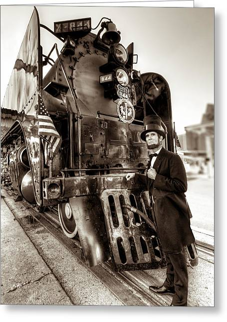 Greeting Card featuring the photograph Union Pacific 844 by Tim Stanley